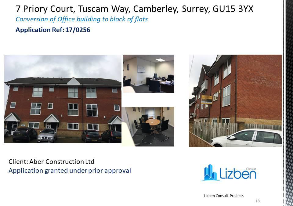 7 Priory Court, Surrey – Conversion of Office Building to Block of Flats
